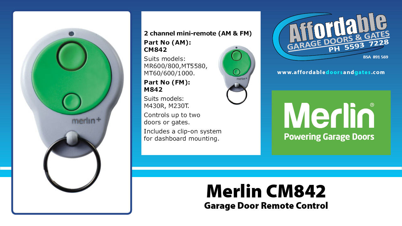 Merlin CM842 Garage Door Remote Control