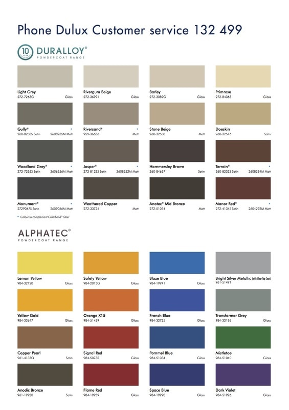 Dulux Aus Powder Colour Selector 2