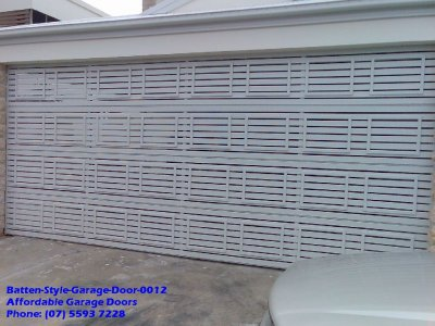Batten Style Garage Door 0012