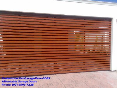 Timbertone Slat Garage Door 0005