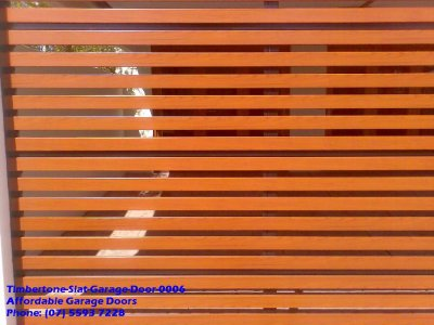 Timbertone Slat Garage Door 0006