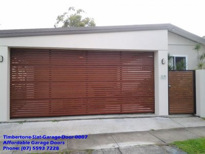 Timbertone Slat Garage Door 0007