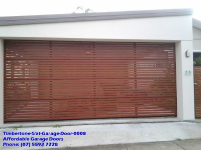 Timbertone Slat Garage Door 0008
